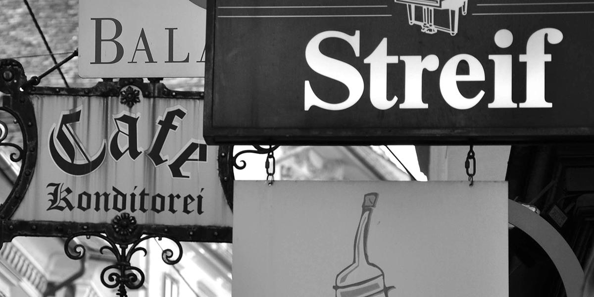 Schwarz Weiß Foto, SW-Foto, Fotoworkshop, Graz, Firmentafel